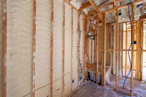 Spray Foam insulation in new home construction